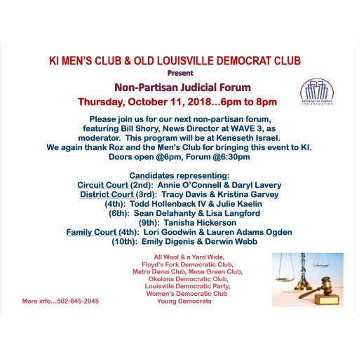 Join OLDC At The Next Judicial Forum On October 11, 2018